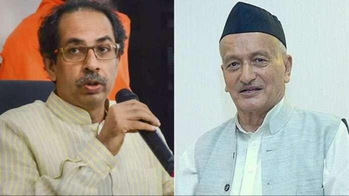 Uddhav Thackeray and Bhagat Singh koshyari