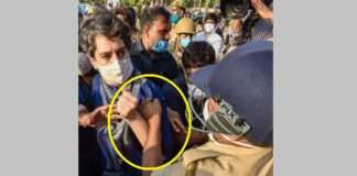 Up Police mishandle priyanka gandhi