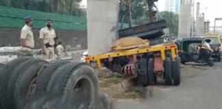 Mumbai: 1 dead as crane collides with metro pillar at Andheri