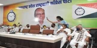 ajit pawar attended eknath Khadse's party entry