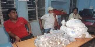 bihar assembly election vehicle was recovered by the hajipur police with 8 coins bags