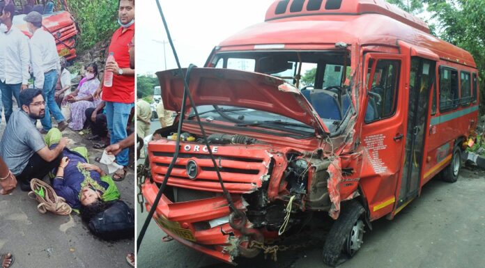 bus meets with accident
