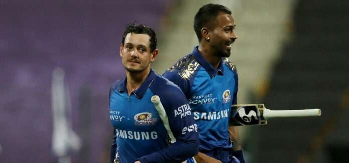 de kock and hardik pandya