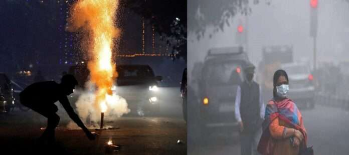 national air quality index cross 900 level in diwali night