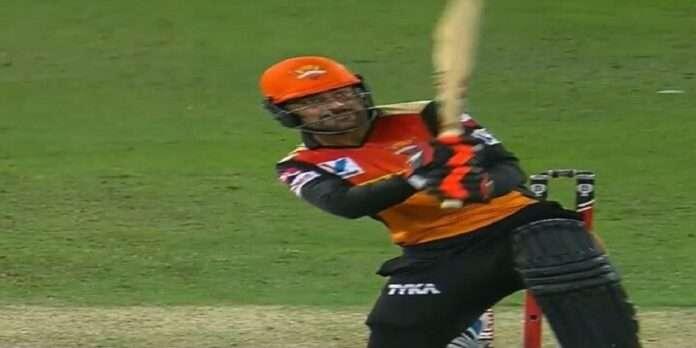 rashid khan tries to play helicopter shot like dhoni