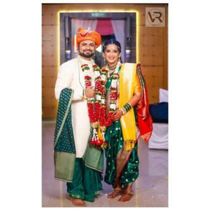 Both of them look very beautiful in Peshwa attire