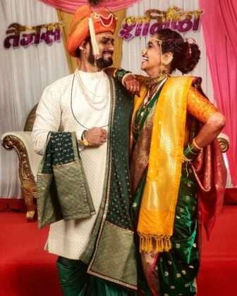 Sharmishtha shared a photo of the wedding on Instagram