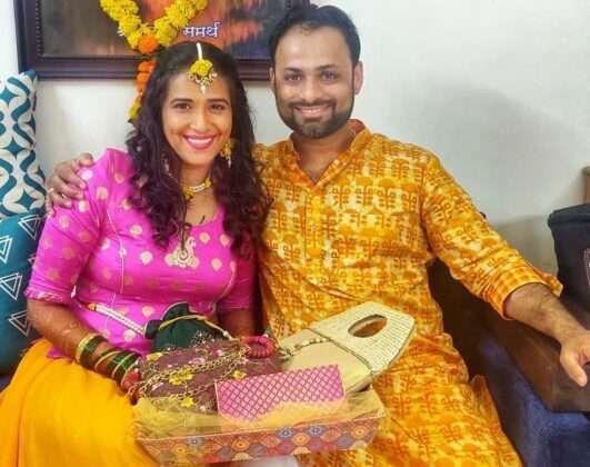 Sharmishtha shared photos from the mehndi ceremony to the wedding on Instagram