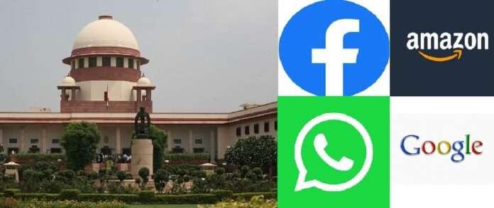 supreme court notice to amazone facebook whatsapp google