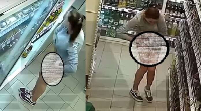 woman was spotted on CCTV