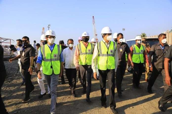 Chief Minister Uddhav Thackeray inspected the work of Coastal Road