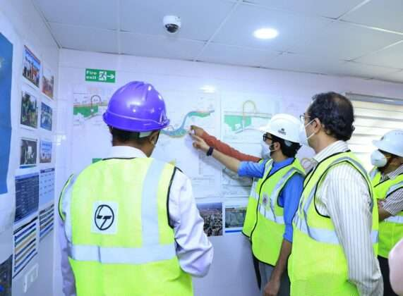 Chief Minister Uddhav Thackeray inspected the work of Coastal Road