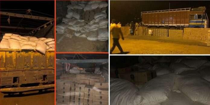 Millions of illicit liquor seized from animal feed truck on Mumbai-Agra highway
