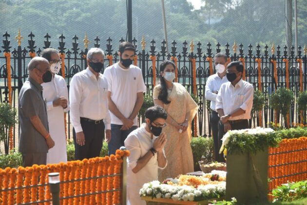 Uddhav Thackeray was accompanied by his wife Rashmi Thackeray, Environment Minister Aditya Thackeray and son Tejas Thackeray.