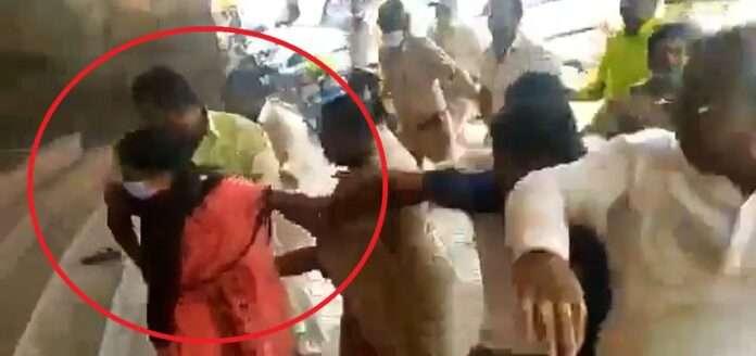 bjp women mlc beaten up by bjp worker