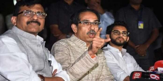 sanjay raut, uddhav thackeray and aditya thackeray