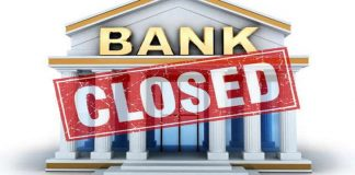 bank will be closed for three days