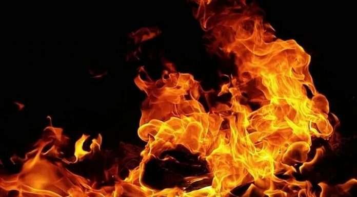 Warehouse fire at Sewari