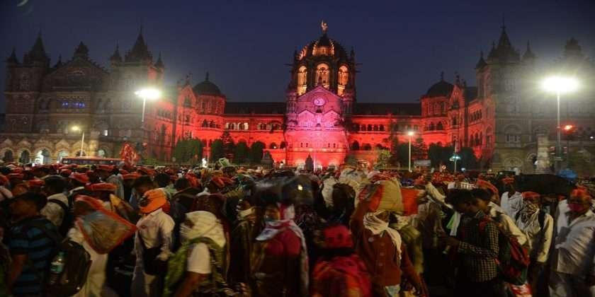 The first stop of the farmers' agitators in Mumbai