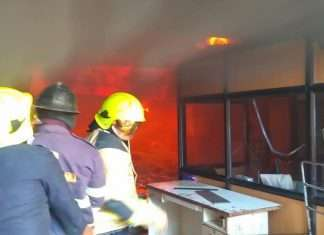 fire breaks out at thane wagle estate
