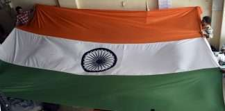 Making of indian flag at byculla for 26th jan republic day