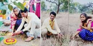 Wedding in natural way