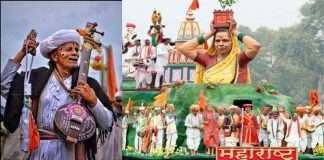 scene of the Saint Tradition of Maharashtra on rajpath for republic day