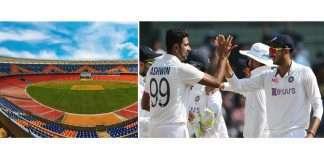 narendra modi stadium and ashwin, axar patel