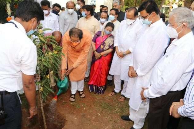 Balasaheb Thackeray Memorial Bhumi Pujan Ceremony photos