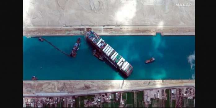 Suez Canal Logjam : relief to world trade, stranded container Ever Given ship finally blocking the suez canal was-re floated on monday