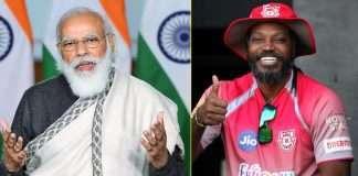narendra modi and chris gayle