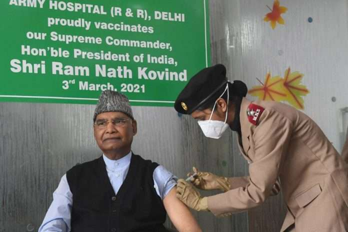 President Ram Nath Kovind receives first dose of Covid-19 vaccine