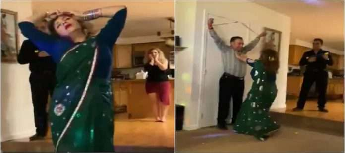 viral video ,iranian womans dance on sholay song