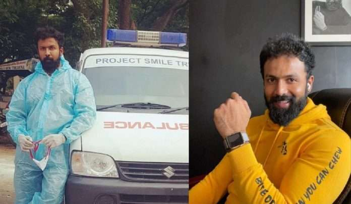 Actor Arjun Gowda turns ambulance driver to help needy during Covid-19 crisis