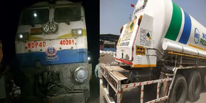 Oxygen Express for Corona patients from Maharashtra leaves for Visakhapatnam