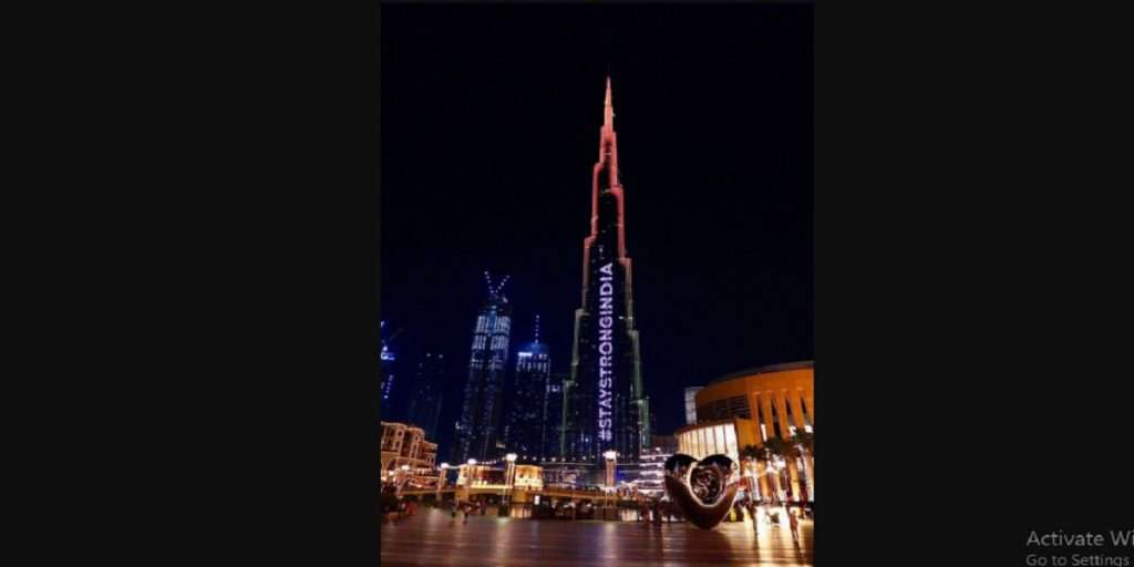 #StaystrongIndia: Burj Khalifa lights up with tricolour to showcase support amid Covid-19 crisis
