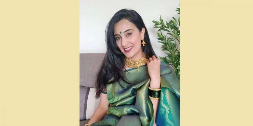 New look of 'Bigg Boss Marathi' fame Sai Lokur in Kanjivaram saree