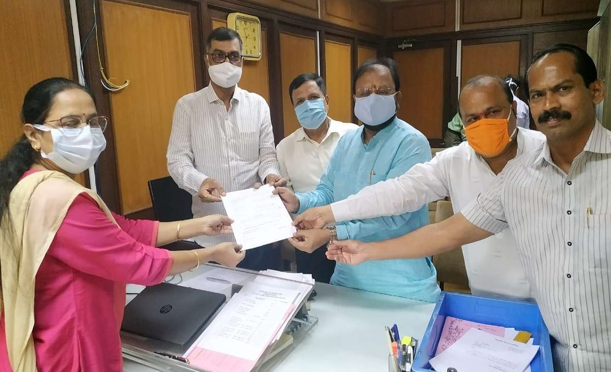 BJP corporator Prakash Gangadhare filed his application for the post of Best Committee Chairman