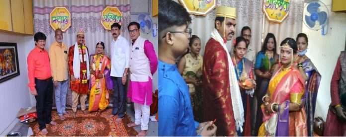 MNS member arrange couple marriage in MNS Brach due to not available a Marriage hall