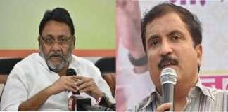 MLA atul bhatkhalkar complaint dindoshi police station and demand file immediate case against nawab malik