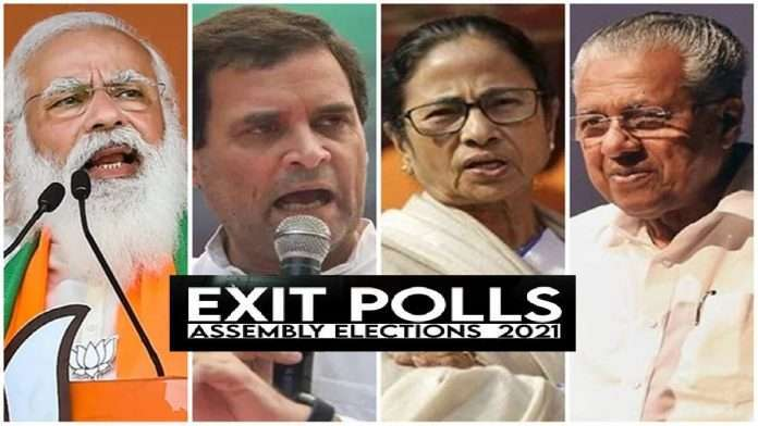 Exit Poll Result 2021 Elections: In 3 out of 5 states, only those in power get another chance in this state BJP will be hit