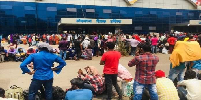 9 lakh migrant people out of Maharashtra in just the first 12 days of April to over SBI report