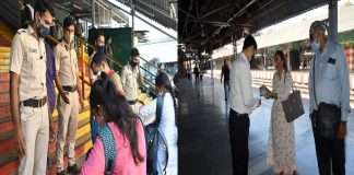 Photo: Strict enforcement of lockdown at Mumbai railway stations, see photo