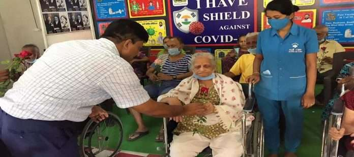 Special covid Vaccination Session at Thane Old Age Home