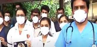 internship doctors protest in kem hospital for insurance