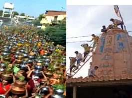 Huge Crowd of women in Gujarat to anoint the temple to escape the corona