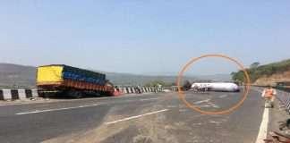 Mumbai-Pune Express way gas tanker's brakes fail, hit 3 trains