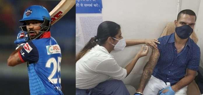 Shikhar Dhawan gets vaccinated