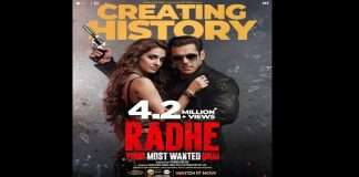 Record breaking opening of 'Radhe' movie, 'Radhe' is the most watched movie with 4.2 million views!