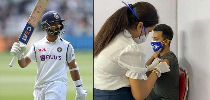 indian cricketer ajinkya rahane gets vaccinated